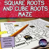Square Roots and Cube Roots Activity (Maze)