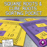 Square Roots and Cube Roots Sorting Activity