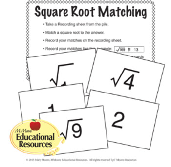 Square Roots and Cube Roots Activities BUNDLE - Math Centers, Test Prep & More