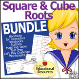 Square Roots and Cube Roots Activities BUNDLE - Math Cente
