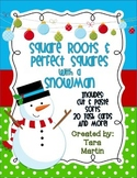 Square Roots and Perfect Squares with a Snowman Task Cards