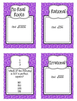 SQUARE ROOTS AND RADICALS - SCAVENGER HUNT! (Task Cards/Skill Building Activity)