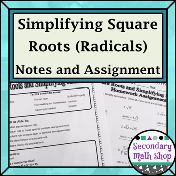 Right Triangles - Square Roots and Simplifying Radicals
