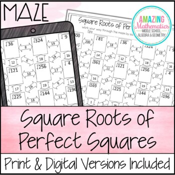 Square Roots of Perfect Squares Maze