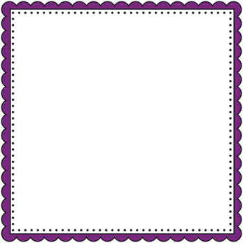 Square Scalloped Borders and Frames Clip Art - 40 Colorful Square Frames