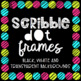 Square Scribble Dot Frames {Educlips Clipart}