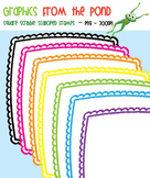 Square Scribble Scalloped Frames - Graphics for Teachers