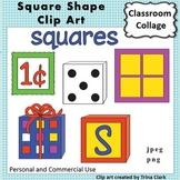 Square Shape Clip Art  Color personal & commercial use Geometric Shape