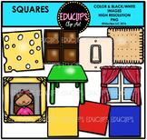 Square Shapes Clip Art Bundle {Educlips Clipart}