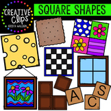 Square Shapes {Creative Clips Digital Clipart}