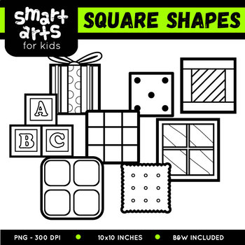 Square Shapes Clipart By Smart Arts For Kids