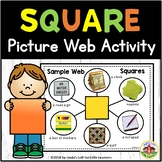 Square Shape Picture Web Activity for Preschool