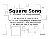 Square Song with Outlined Squares to Color In