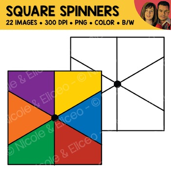 Square Spinners Clipart