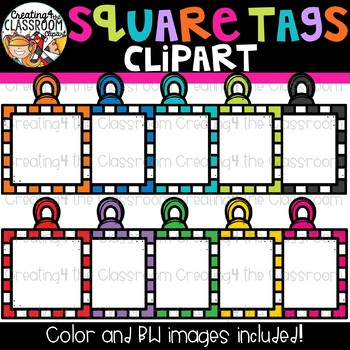 Square Tags Clipart {Frames Clipart}