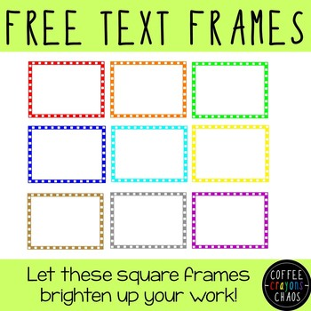 Square Text Frames