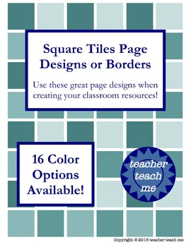 Square Tiles Page Designs