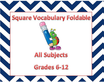 Square Vocabulary Foldable