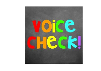 Voice check signs- 4 different styles (Square version)