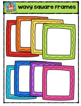 Square Wavy Frames {P4 Clips Trioriginals Digital Clip Art}