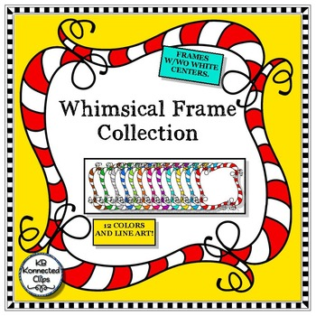 Square Whimsy Frames - Brights