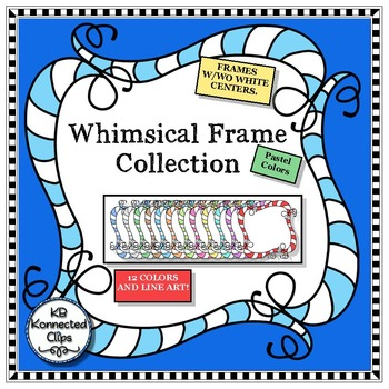 Square Whimsy Frames - Pastels by KB Konnected | TpT