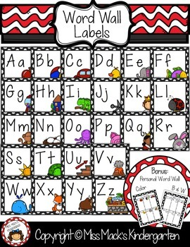 Square Word Wall Labels