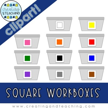 Square Workbox Clip Art