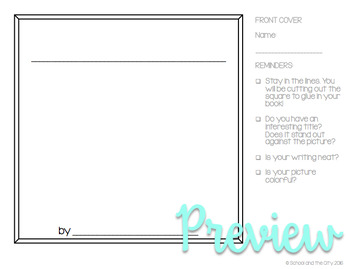Square Writing Templates (for Target Dollar Spot books)