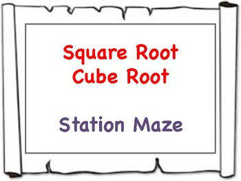 Square and Cube Root Maze