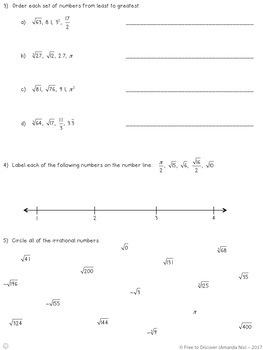 Square and Cube Roots Differentiated Notes and Practice