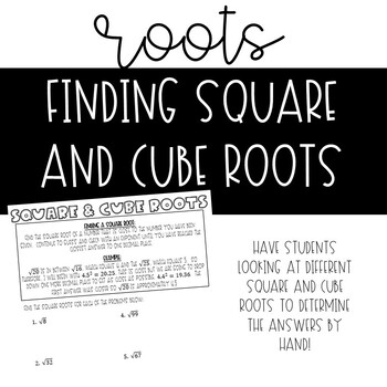 Square and Cube Roots *NO PREP*