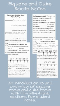 Square and Cube Roots Notes and Overview