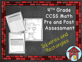 Square and Rectangle Assessment CCSS Aligned