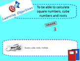 Square and cube roots lesson