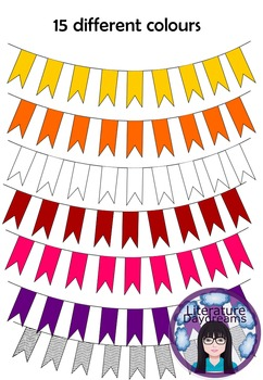 Square bunting freebie - 15 colours