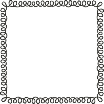 Square loopy doodle borders