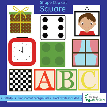 Square Objects 2D Clip Art Shapes