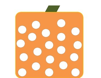 Square pumpkin bingo art