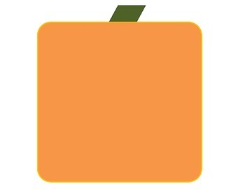 Square pumpkin mat