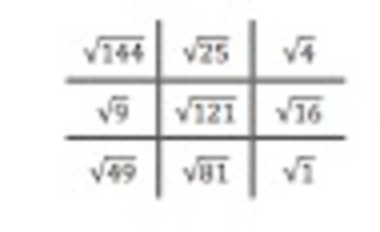 Square roots I have... Who has...  and Tic Tac Toe
