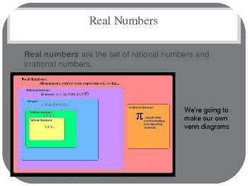 Square roots, Real Numbers, Irrational Numbers