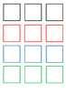 Ready-to-print and cut colour shapes squares for various craft activities