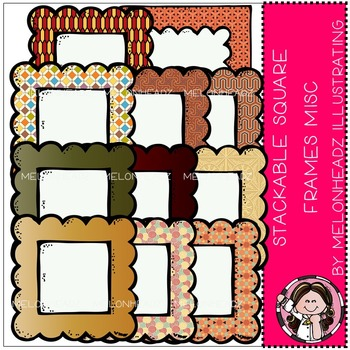 Square stackable frames misc by Melonheadz