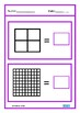 Square Numbers Math Clip Cards & Worksheets, Autism Special Education