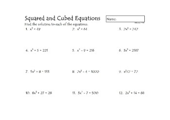 Squared and Cubed Equations