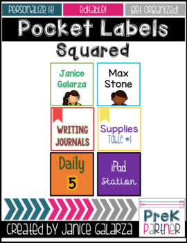 Squared label pockets {{EDITABLE}}