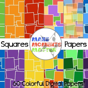 Squares  --  A Digital Paper Pack!