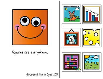 Adapted Book for Preschool, Pre-K and Special Needs (Squares)