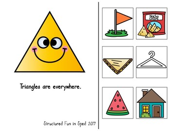 Adapted Book for Preschool, Pre-K and Special Needs (Triangles)